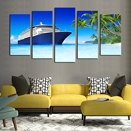 Luxury Cruise Ship Seaview Picture Print Painting Canvas Wall Art for Wall (Cruise Ship Picture)