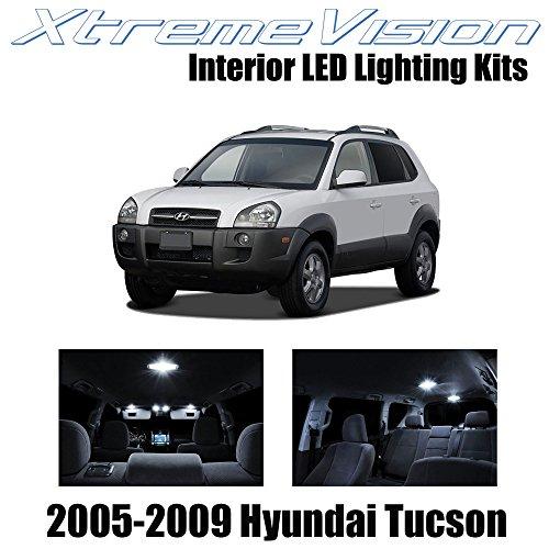 XtremeVision Hyundai Tuscon 2005-2009 (6 Pieces) Pure White Premium Interior LED Kit Package + Installation - Premium Tucson