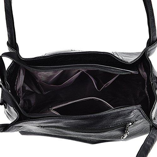 Meaeo Fashion À Bandoulière Black Bag Gris Nouveau Sac Bandoulière Sac Main Sac À À Messenger rqwzr0R