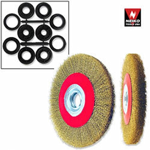 1pc 6`` Neiko Crimped Wire Wheel Brush Wide Face For Bench G