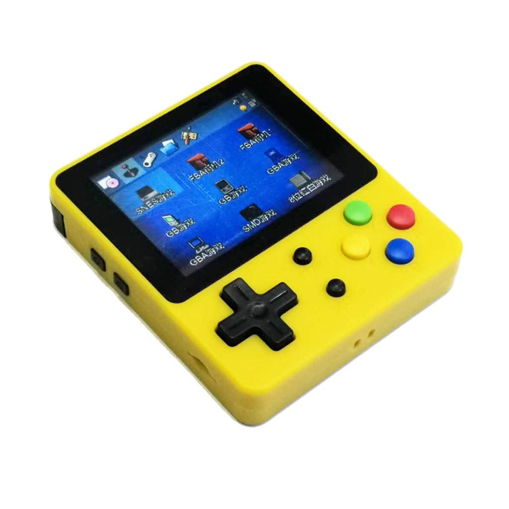 1KTon Mini Recreational Machines Game Player 2.6 Inches Screen Thumbs Palm Console of Nostalgic Children (Yellow) by 1KTon_Pet Toy (Image #3)