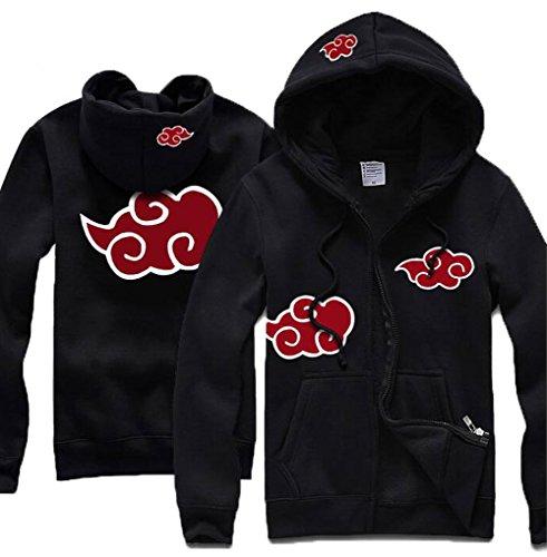 [Poetic Walk Naruto Shippuden Anti Leaf Clouds Akatsuki Jacket (Small, Black)] (Naruto Shippuden Costume)