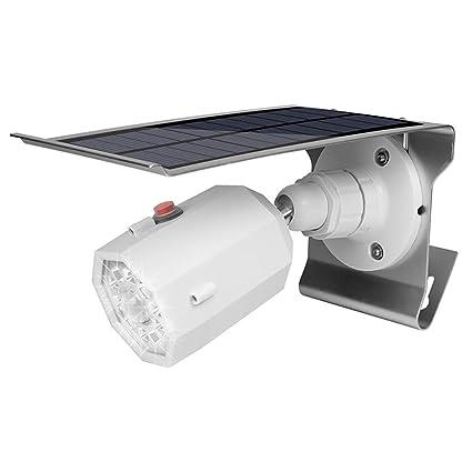 Luces De Pared Para Exteriores Con Luz De Inundación LED, BOFEISI Solar 10LED Sensor De