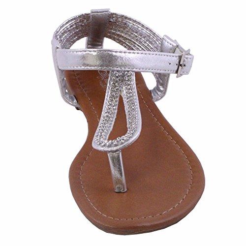01 Silver Women Sandal - 9