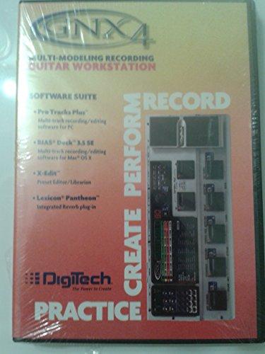 GNX4 -- Multi - Modeling Recording Guitar Workstation -- Software Suite -- pro tracks Plus -- Bias Deck 3.5 SE -- X Edit -- Lexicon Pantheon -  Digitech