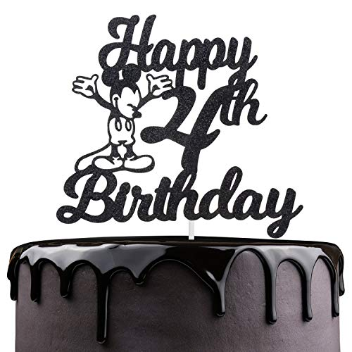 Happy 4th Birthday Cake Topper