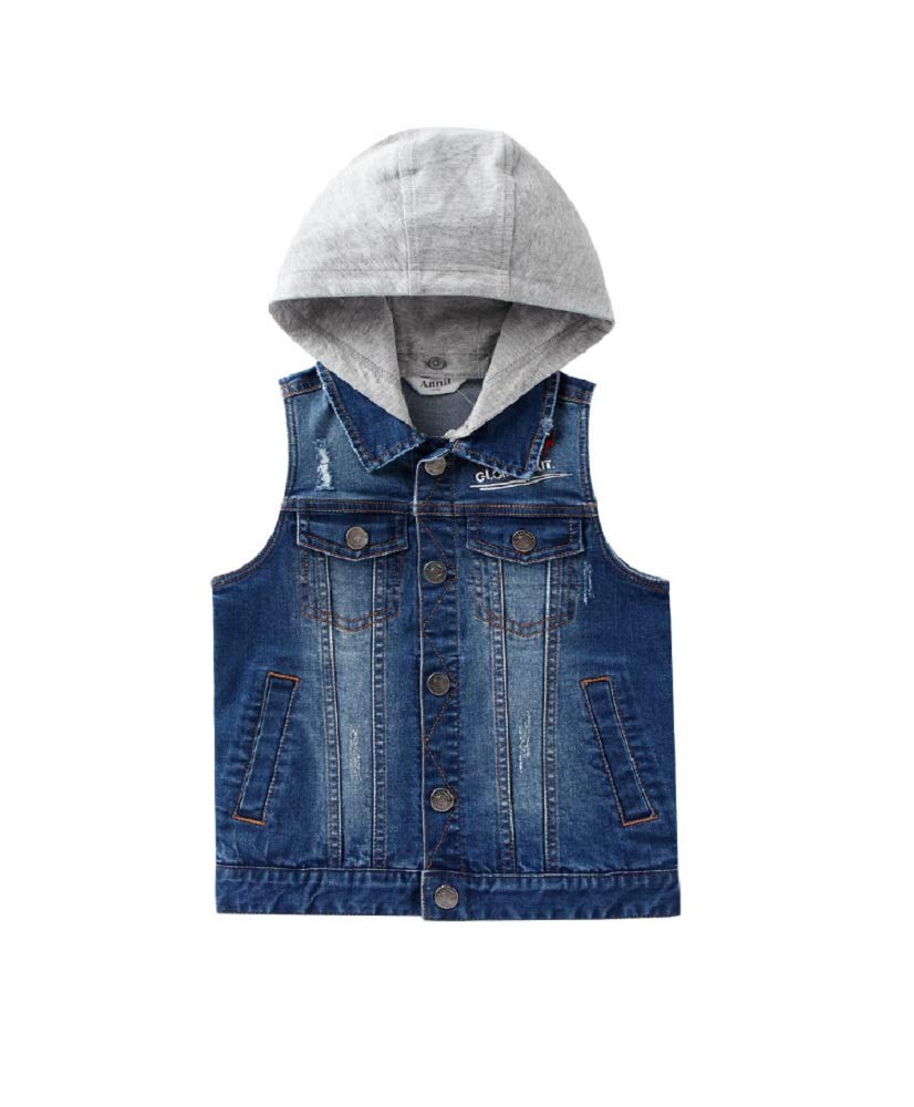 Annil Boys Denim Vest Kid's Gilet for 2 to 14 Years (130) by Annil