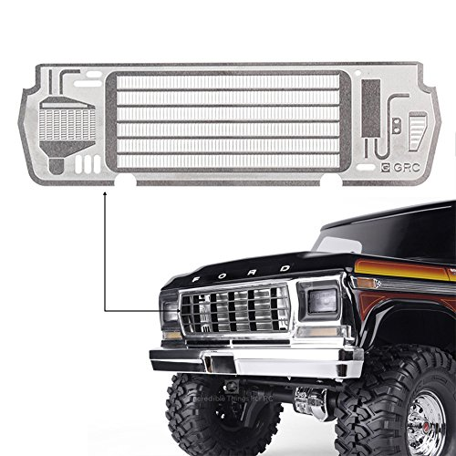 (INJORA TRX4 82046-4 Metal Inlet Grille Cover for 1/10 RC Crawler TRAXXAS TRX4 Ford Bronco Ranger XLT)