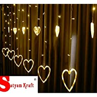 SATYAM KRAFT Star Light Curtain for Decoration (Yellow)