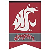 WASHINGTON STATE COUGARS OFFICIAL LOGO 17X26 PREMIUM FELT BANNER