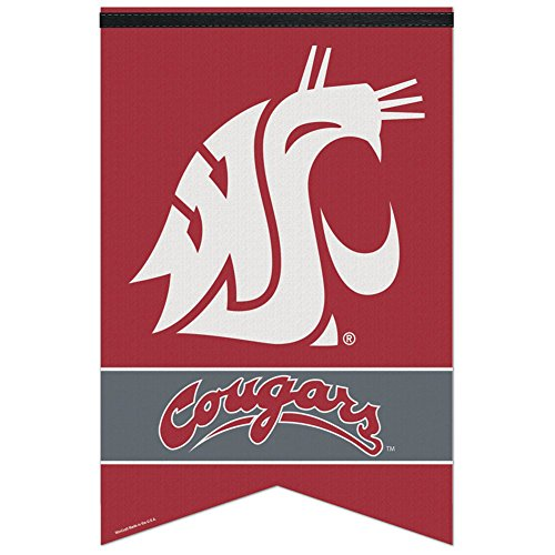 WASHINGTON STATE COUGARS OFFICIAL LOGO 17X26 PREMIUM FELT BANNER by WinCraft