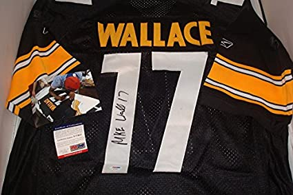 10d4c436c98 Mike Wallace Signed Pittsburgh Steelers Jersey