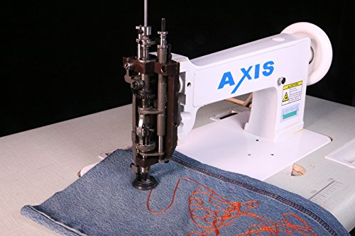 Axis Single Needle Chain Stitch Embroidery Machine - Handle Operated Hand Crank- Replacement Vintage Cornely Singer 114w103 - Universal Feed Designs Chainstitch & Moss Stitch - Head Only