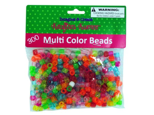 Multi-color crafting pony beads-Package Quantity,144 by krafters korner