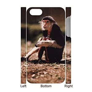 3D Bumper Plastic Case Of Monkey customized case For Iphone 4/4s