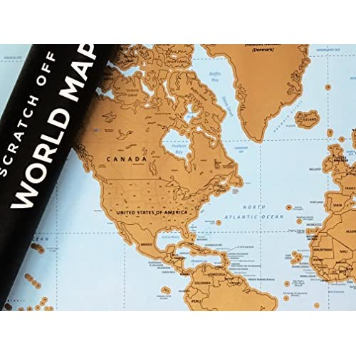 Large scratch off world map poster includes us states country large scratch off world map poster includes us states country capitals and flags gumiabroncs Images