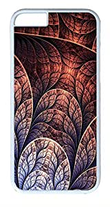 ACESR Abstract Leaf iPhone 6 Hard Shell Case Polycarbonate Plastics Awesome Case for Apple iPhone 6(4.7 inch) White