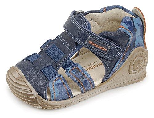 BIOMECANICS - Blauer Schuh aus Leder, ideal zum Krabbeln und Laufen lernen, aus leichten, Baby Jungen