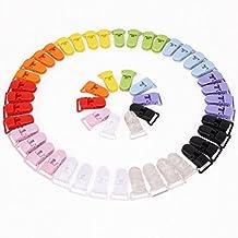 50pcs 10 Colors T-shape Plastic Baby Dummy Pacifier Clips Badge Clips Bib Holders (Random Color)