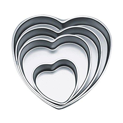 Wilton Heart Shaped Cake Pan, 4-inch Heart Pan Set