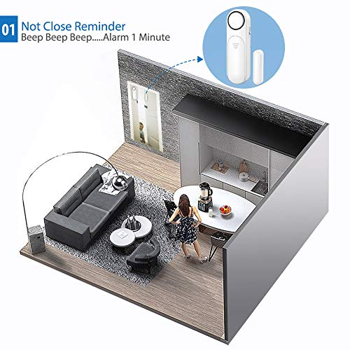 Amazon.com: Secrui - Alarma para ventana de puerta, 120 dB ...