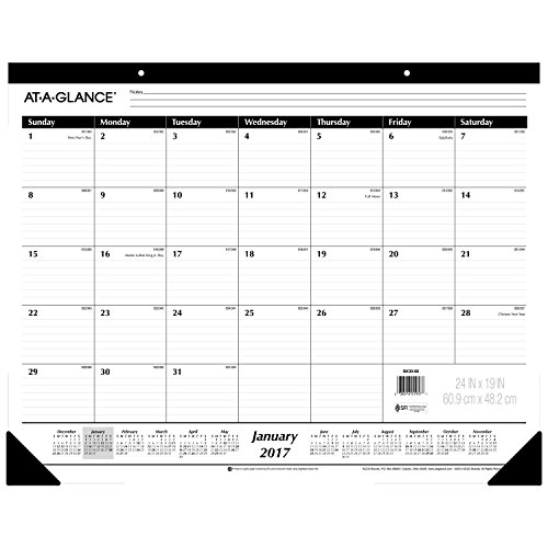 AT-A-GLANCE Desk Pad Calendar 2017, Monthly, Ruled, 24 x 19