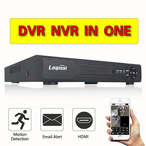 Logisaf 8CH 960H CCTV DVR H.264 8 Channel Digital Video Recorder for Security Camera System Mobile Phone Monitoring Motion Detection