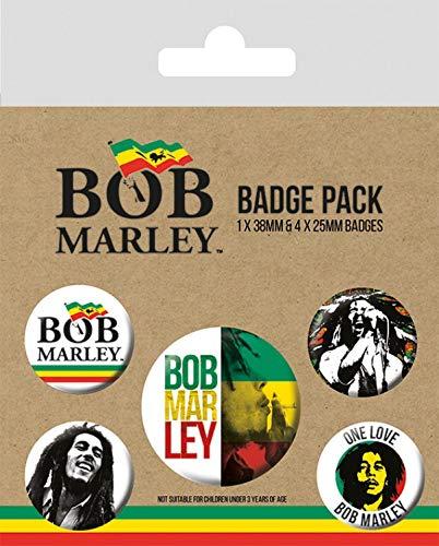 mm de 38 15 4 mm Bob Marley de 25 x 10 y Paquete cm insignias 1 7x0TEp
