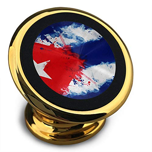 Cuba Cuban Art Flag Universal Yellow Smartphone Car Mount Holder Cradle for Smartphones and Mini Tablets