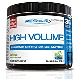 PEScience High Volume, Kiwi Lime, 36 Scoops, Caffeine-Free Preworkout