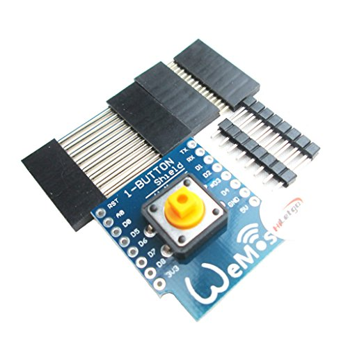 HiLetgo 1-Button Shield for D1 Mini One Button Shield for WeMos D1 Mini