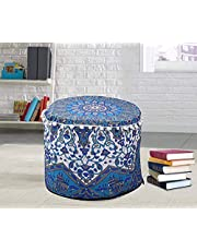 Ottoman Poef Cover Indian Floor Kussen Retro Ronde Kussen Zitbank Cover Ottomaanse Voetbank Bean Bag Kussen Meditatie Case