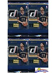 2016/2017 Panini Donruss NBA Basketball Lot of FOUR(4) Factory Sealed Packs with 44 Cards! Loaded with ROOKIES & Inserts!  Look for RC's & Autographs of Brandon Ingram, Kris Dunn & Many More! Wowzzer!