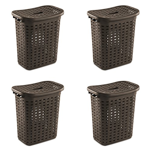 Sterilite 12766P04 Weave Laundry Hamper, Espresso, 4-Pack by STERILITE (Image #5)