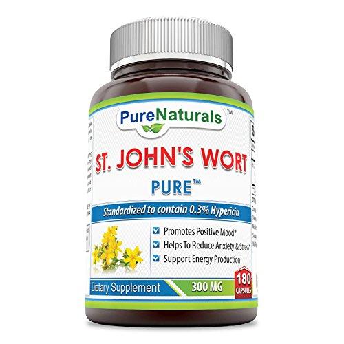 Pure Naturals St. John Wort Capsules, 300 mg, 180 Count (180 Capsule Wort)