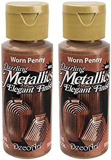 product image for 2-Pack - DecoArt Dazzling Metallics Acrylic Colors - Worn Penny, 2-Ounces Each