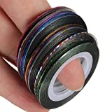 Nail Art Decoration Tape Line Striping Rolls Sticker MTS Mixed 12 Colors