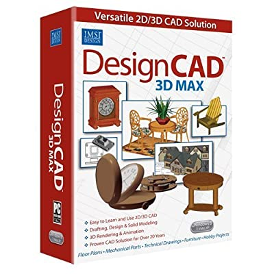 DesignCAD 3D Max 25 CAD Design Software for PC Windows