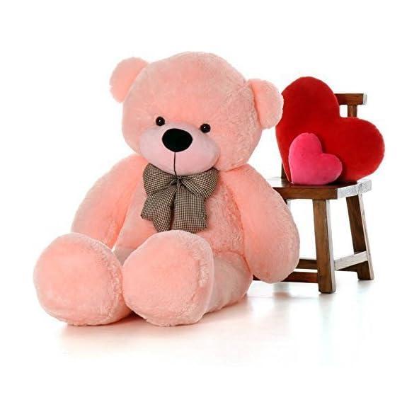 Hug 'n' Feel Soft Toys Extra Large Very Soft Lovable/Huggable Teddy Bear for Girlfriend/Birthday Gift/Boy/Girl Pink 3 feet (91 cm)