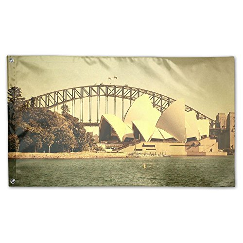 Garden Flag Yard Sweet Home Decoration 3x5 Feet Sydney Theatre One-sided Printed Weatherproof