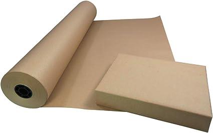 Triplast - Rollo de papel kraft ecológico (750 mm x 100 m, 100 ...