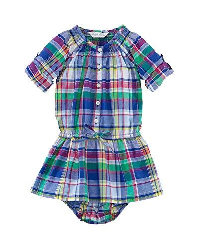Ralph Lauren Polo Baby Girls Plaid Madras Dress Set (18 (Ralph Lauren Polo Girls Madras)