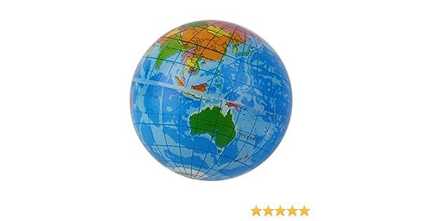 RoadRomao Mapa del Mundo Azul Espuma Tierra Globo Alivio del ...