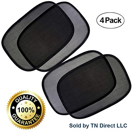 - ComfoBee Upgraded Car Window Sun Shade No Suction Cups Needed - Block UV Rays from Sun - Skin Protection for Kids, Pets, and Humans - Keep Your Car Cool - Easy Installation (Sides)