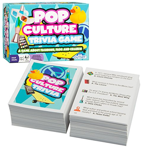 Pop Culture Trivia - A Game About Fashions Fads and Crazes - Features 220 Cards with Over 800 Questions and Answers - Ages 12+