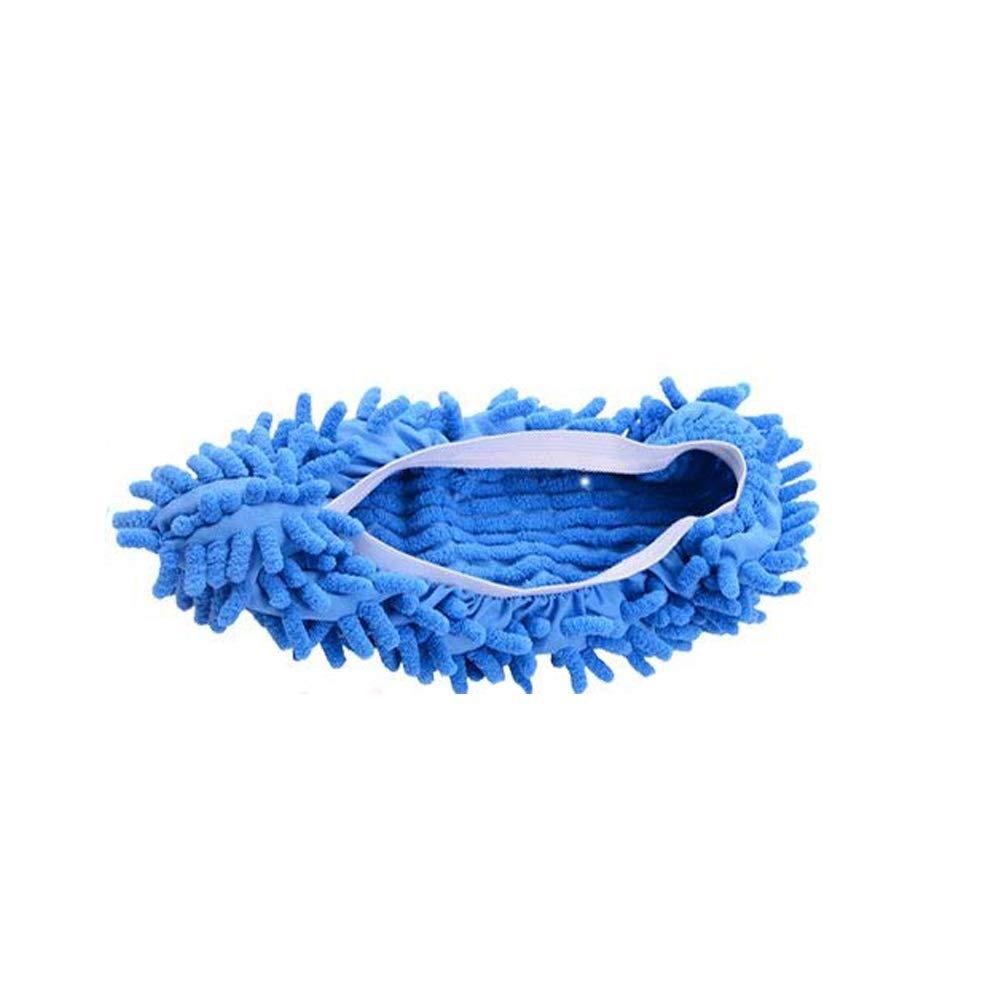Gudelaa lavabile ciniglia fibra Casa Piano pulizia della polvere Mop Mop del piede dei pistoni dei calzini scarpe in microfibra per la pulizia del Mop Multi-Function di pulizia del pavimento della copertura dei pattini (1 * piano mop shose) Caffè