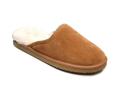 d6a1d8a660 Peter Werth Cooper Mens Genuine Sheepskin Suede Slip On Mule Slippers:  Amazon.co.uk: Shoes & Bags