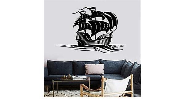 Vintage Art Voyager Tatuajes de pared Velero Ocean Wave ...