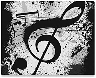 Image result for music note black and white painting