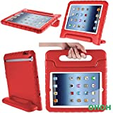 iPad Mini case,OHOH Apple iPad Mini iPad Mini Retina iPad Mini 3 case for kids [Kid Proof] [Scratch Resistance] [Drop Resistance]Light Weight Super Protection Carrying Handle and Convertable Stand Cover for iPad mini iPad mini 2 iPad mini 3(Red)